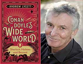 Andrew Lycett with his Book Conan Doyle's Wide World