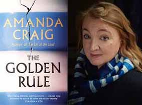 Amanda Craig with the cover of her latest novel, The Golden Rule